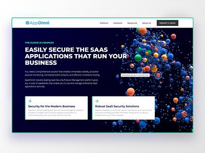 Website Design for AppOmni saas website ui design homepage website ui