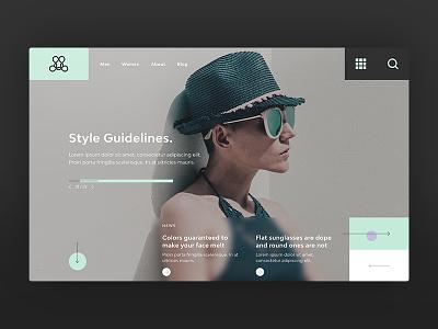 Fashion Homepage Design homepage design ui design fashion ui ux homepage