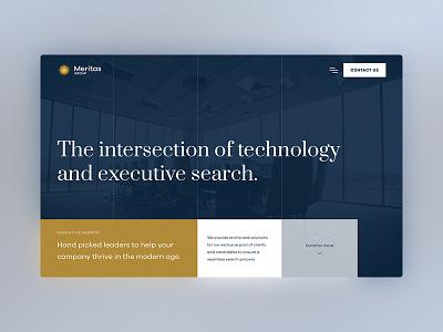 Meritas Group Homepage Design website design website technology ux ui design ui homepage design homepage