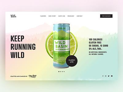 Wild Basin Boozy Water Landing Page Design modern clean colorful ux designer ux ui ux design