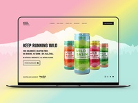 Wild Basin Boozy Water Landing Page - Final Design