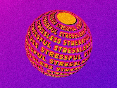 Stress Ball - Digital Illustration type daily type art illustration color type typography
