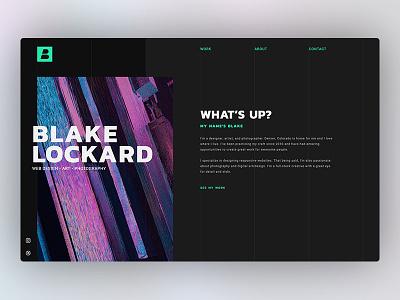Blake Lockard Website micro interaction modern website ui web design ux  ui responsive design web  design webflow