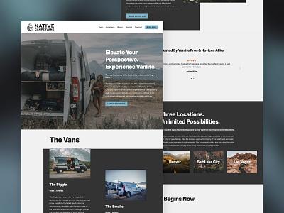 Native Campervans Website Redesign website design website homepage design homepage design ui design typography ui