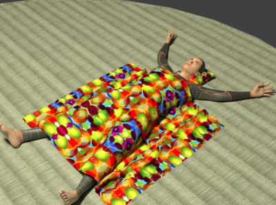 Man Sleeping On Tatami