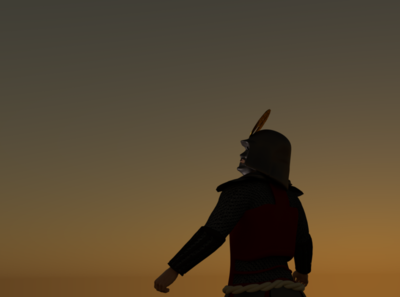 Samurai watching the sunset...