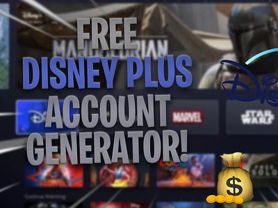 *.^ Disney+ Plus Unlimited Account Generator Updated 2020 logo design web icon illustration ui typography