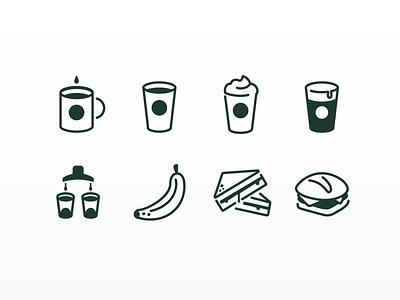 Item icons vector illustration ui design starbucks icon