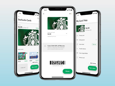 Starbucks Cards ios app ux starbucks