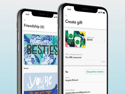 Gift redesign ux gift card starbucks ios
