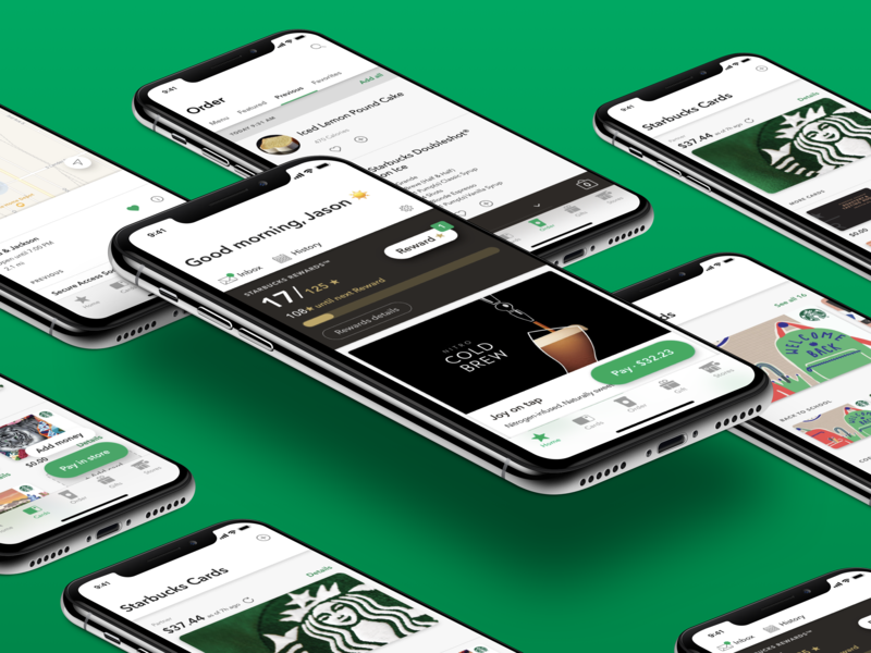Five dot whoa design ux starbucks app ios