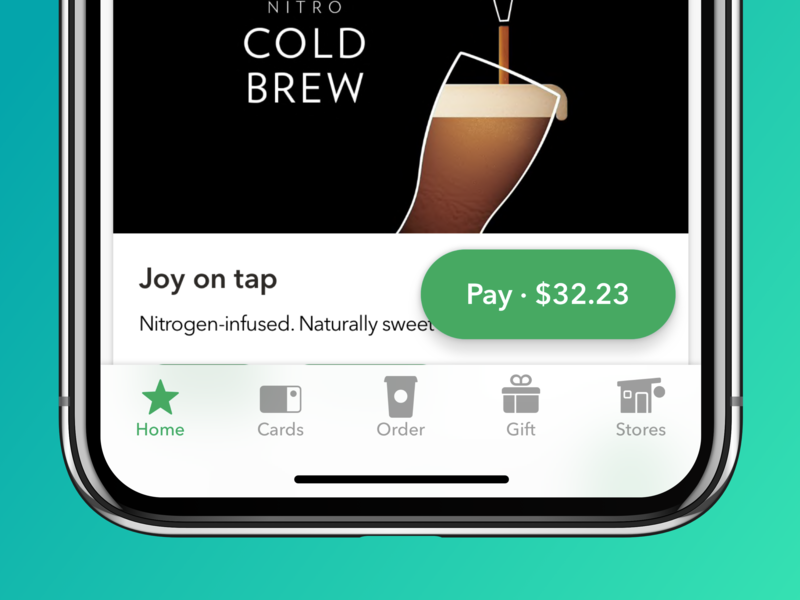 Starbucks Navigation navigation design ux starbucks app ios