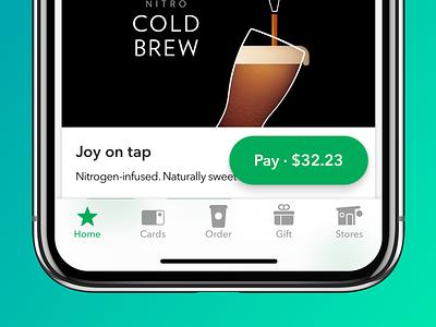 Starbucks Navigation navigation design ux starbucks app ios