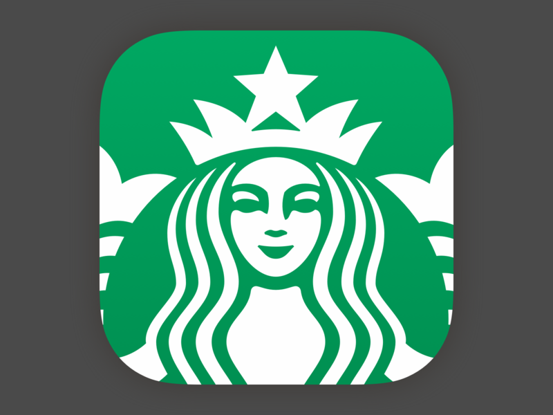 Brighter & Tighter design starbucks app ios icon