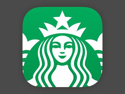 Brighter & Tighter design starbucks app ios icon