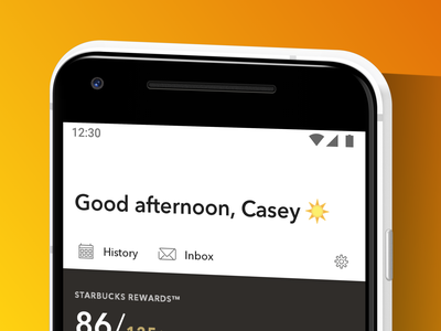 Android 5.0 — Good afternoon ☀️ app android design ux starbucks
