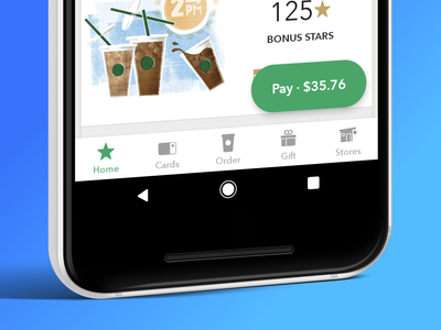 Android 5.0 — Navigation ui design ux starbucks app android