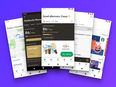 Starbucks for Android, version 5.0 starbucks ui design ux app android