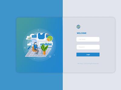 ERP Login Page commercial ui design logo interface ux design ux ui graphic design design illustration