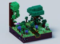 Voxel World - Gargantuan Forest