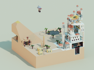 Voxel World - Clockpunk Arabia