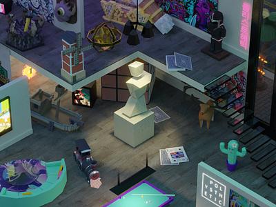 The Polysthetic Lab 2020 3d art room studio 3d
