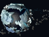 Low Poly Icy Planet