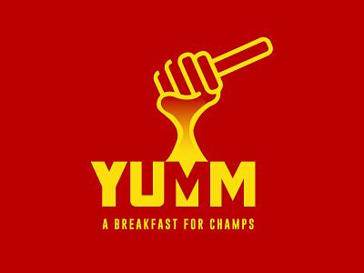 Yumm typography vector design dailylogo illustration branding logo dailylogochallenge