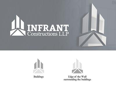 Infrant Constructions Logo logodesignersclub logo designer logo designs logodesigns graphic design graphic graphicdesign graphics logodesigner logo mark a logo logosai logos logo design logodesign dailylogo logo