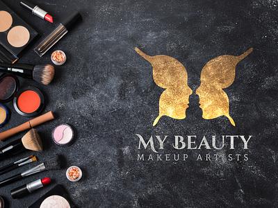 My Beauty - Makeup Artists butterfly logo makeup artist makeup logo makeup adobe logo designer logodesigns logo design logodesignersclub logodesigner a logo logodesign dailylogo logo