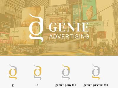Genie Advertising graphic design monogram logodesignersclub logo conecpt advertisement logo marketing logo marketing ad agency advertising dailylogochallenge a logo logodesigner logodesign dailylogo logo