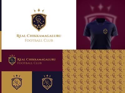 Real Chikkamagaluru FC Brand Identity Design sportslogo sports logodesigner logodesign branding a logo dailylogo logo