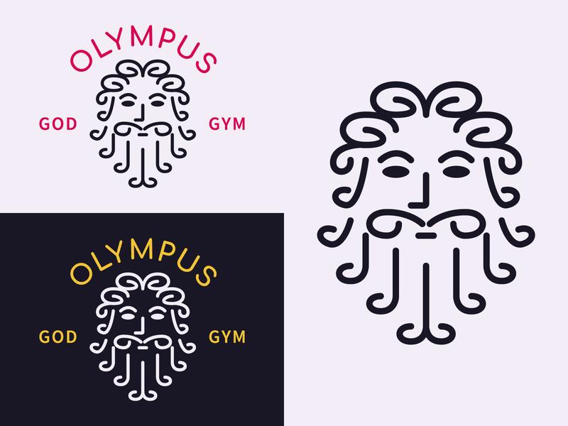 Olympus webdesign webdesigner zeus club gym minimal design illustration graphicdesign branding logo design logo color illustrator vector