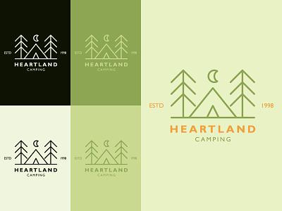 Heartland camping logo camping graphicdesign branding logo design logo color illustrator vector