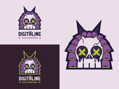 Digitäline Illustration skull mascotlogo design illustration graphicdesign branding logo design logo color illustrator vector