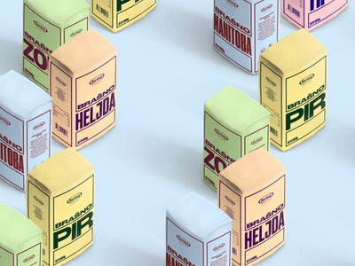 Farina flour type typogaphy flat design package design branding packaging