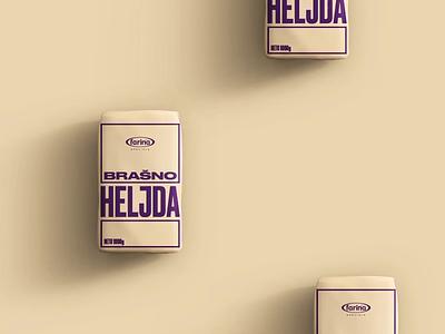 Farina Flour minimal typogaphy type packaging package design flat design branding