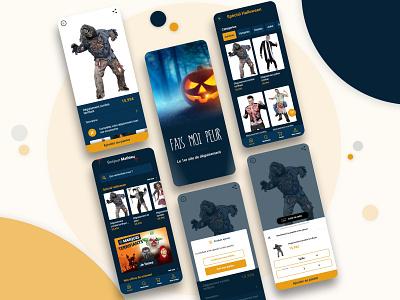 Halloween e-commerce mobile app app ecommerce ux ui