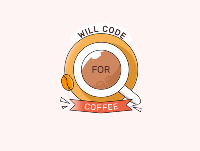 Will code for coffee figmadesign figma colorful code coffee redesign icon illustration company logo branding logo design creativity brand design beginner
