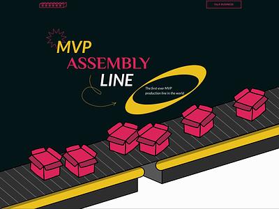 MVP Assembly Line animation illustration logo web design and development ux ui web design agency mvp web design design