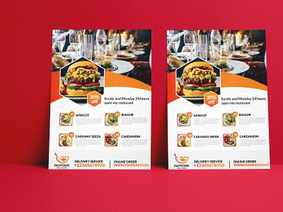 Food Flyer Design for Restaurant illustration creative flyer design free design burger flyer restaurant flyer business flyer flyer designs free flyer design food flyer flyers