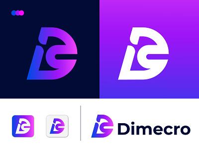 D Modern App Logo Design - branding logo - minimal logo logo trends 2021 letter mark logo app logo letter logo logo trends 2020 monogram logo brand identity modern logo logo company logo app icon branding