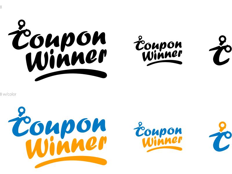 Coupon Winner Logo Concept identity branding coupon logo