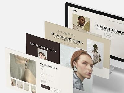 Jewellery webshop design webshop typography webdesign type ui flat minimal design branding