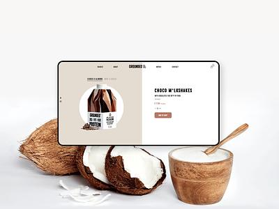 Website design for milkshakes 🥛