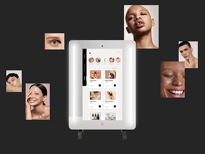 Smart mirror app design social media design designer freelancer smart mirror graphic designer illustration typography webdesign minimal design branding