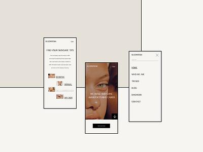 Skincare website design social media design social media flat graphic designer illustration typography webdesign minimal design branding