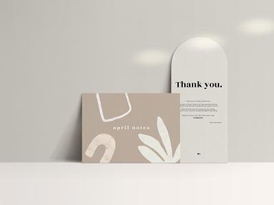 Branding for april notes brand social media design social media graphic designer illustration typography design webdesign minimal graphic package branding
