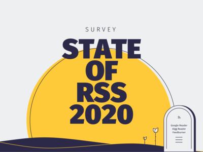 State of RSS 2020 rose grave dawn sunrise rss survey illustration