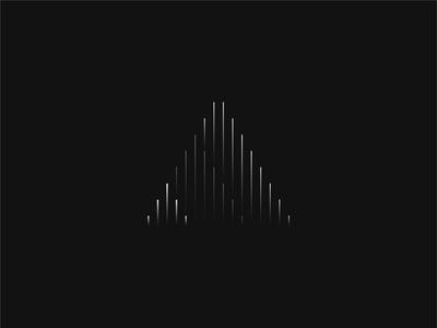Triangle minimalism triangle line vector design shape gradient graphic design black
